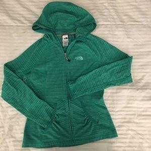Terry / Fleece North Face Zip Up Jacket